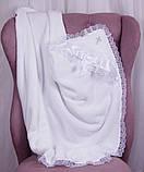 Комплект одежды для крещения мальчика Бантик+Фрак New белый, фото 4