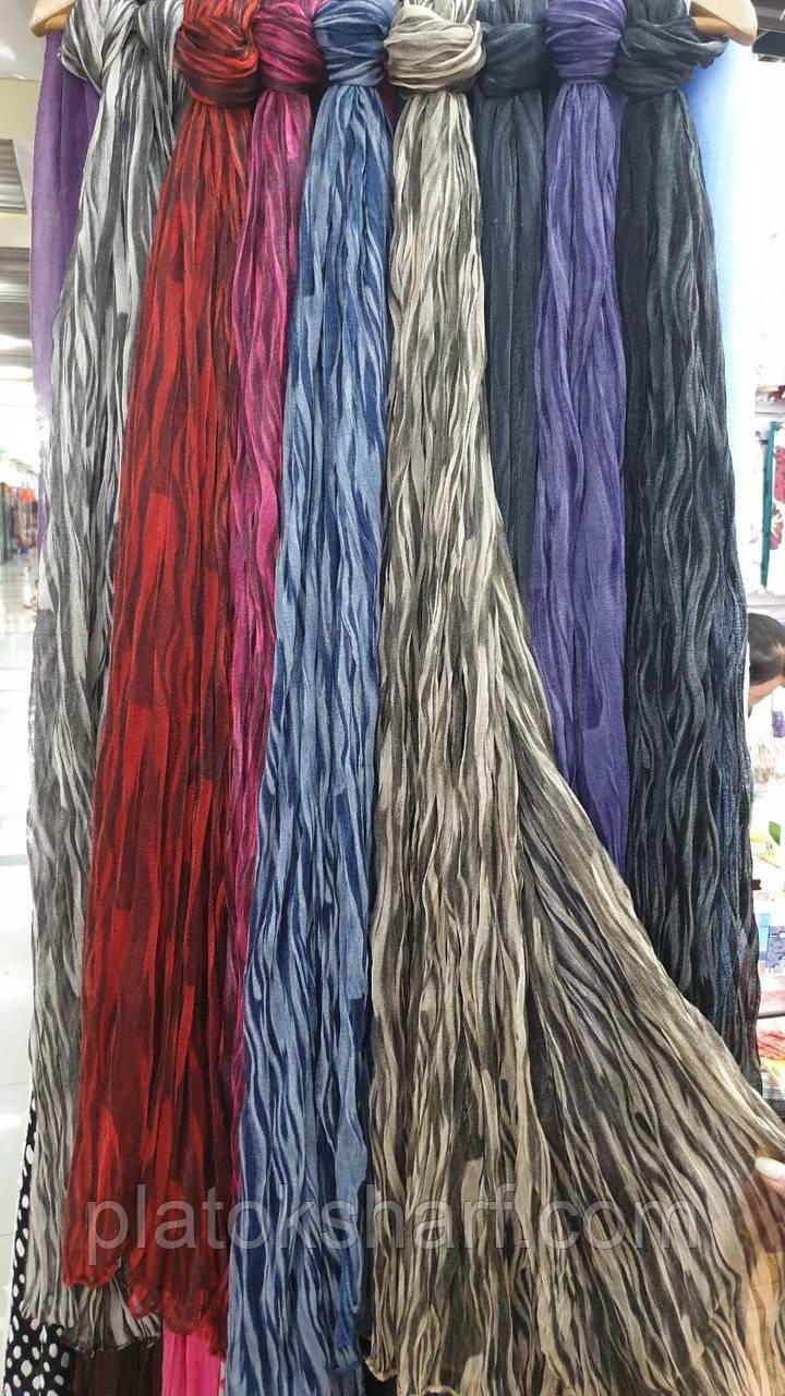 Шарфы, Женские шарфы «Меланж Жатка» 180*40 см