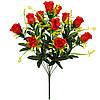 Букет искусственные бутоны роз с пышной зеленью, 53см