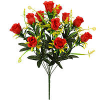 Букет искусственные бутоны роз с пышной зеленью, 53см, фото 1