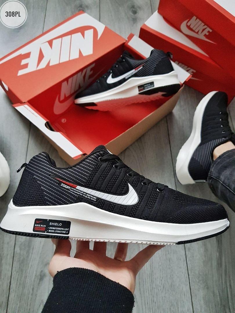 Мужские кроссовки Nike Zoom (черно-белые) 308PL