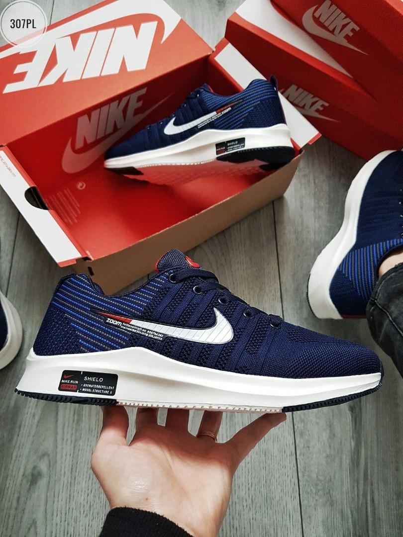 Чоловічі кросівки Nike Zoom (синьо-білі) 307PL