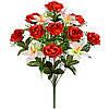 Букет атласных роз с орхидеями, 54 см