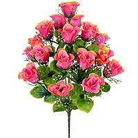 Букет атласные бутоны роз с кашкой, 53см, фото 1