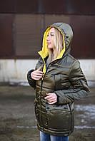 Женская куртка Лаковая 42-50 хаки
