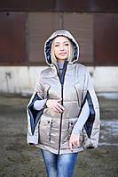 Женская куртка Лаковая 42-50 серебро