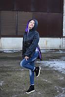 Женская куртка Лаковая 42-50 черный