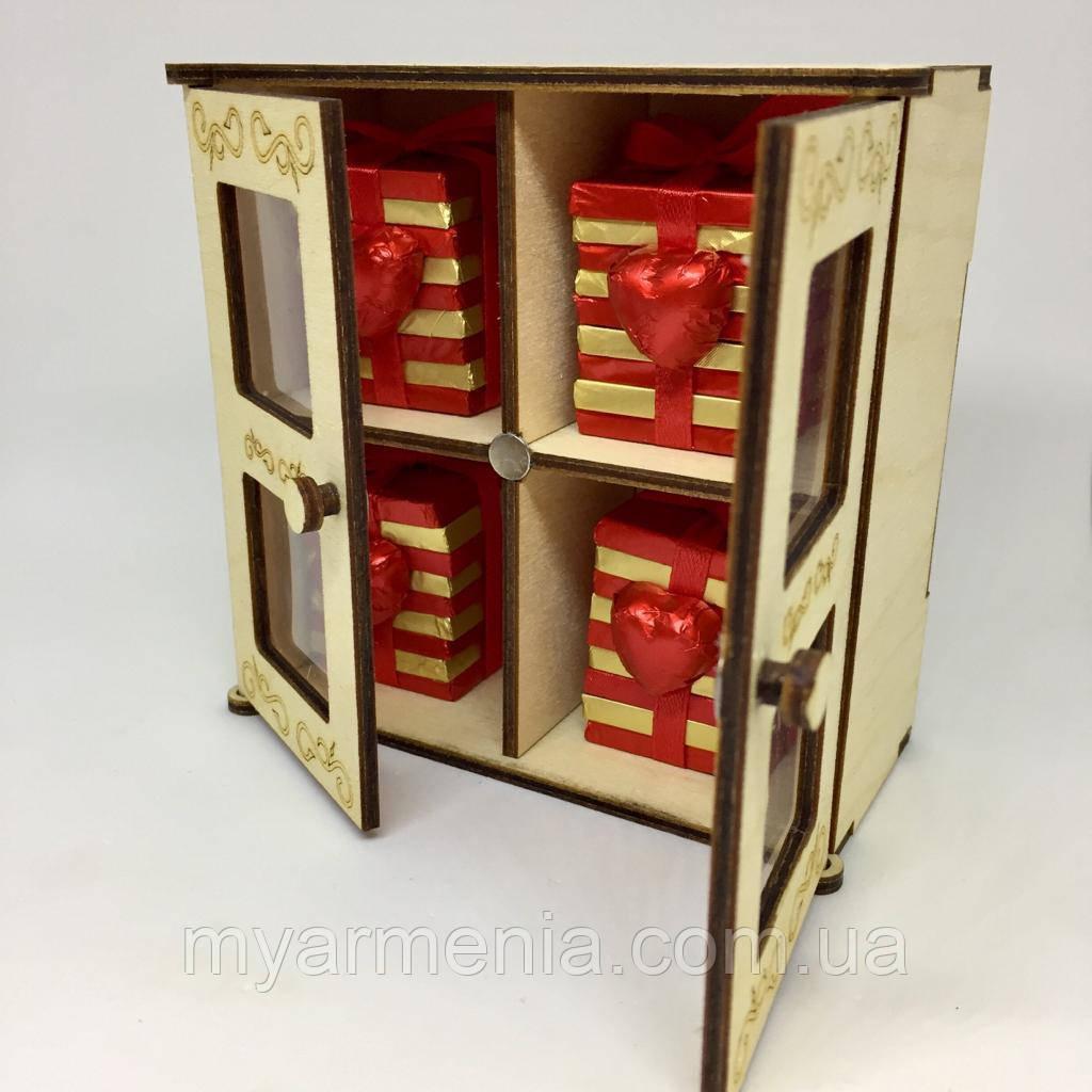 Деревянная коробка драгоценностей Шоколадный набор