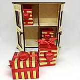 Деревянная коробка драгоценностей Шоколадный набор, фото 2