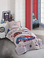 Покрывало детское/подростковое стеганое 180*240 с наволочкой 50х70   (TM Clasy) Garage, Турция, фото 1