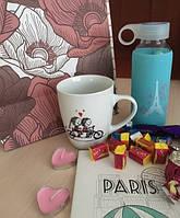Оригинальный подарок девушке Валентинка Париж (голубая)