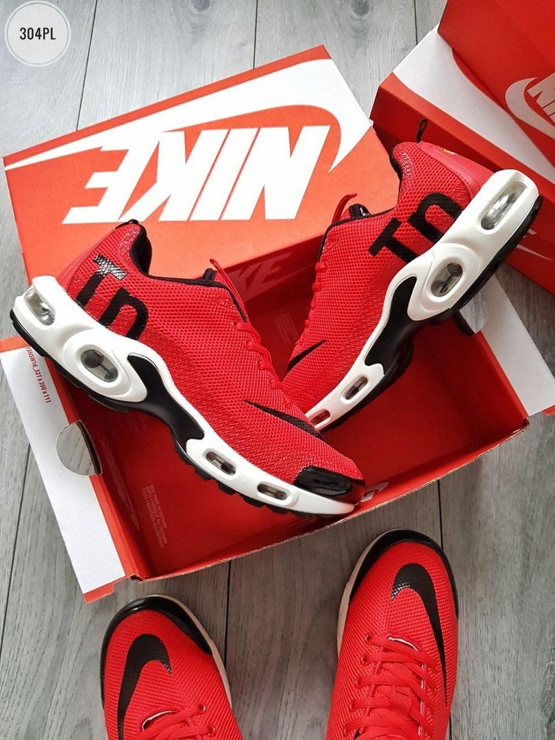 Мужские кроссовки Nike Air Max Tn (красно-белые) 304PL