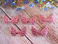 "Патчи ""Крылышки ангела"", крупный глиттер, цвет розовый, 50х35 мм, 1 шт."
