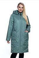 Женская куртка удобная стильная демисезонная большого размера 54-70 р мята, синий, марсал, малахит цвет