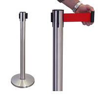 Стойки ограждения с выдвижной лентой (тенсатор)