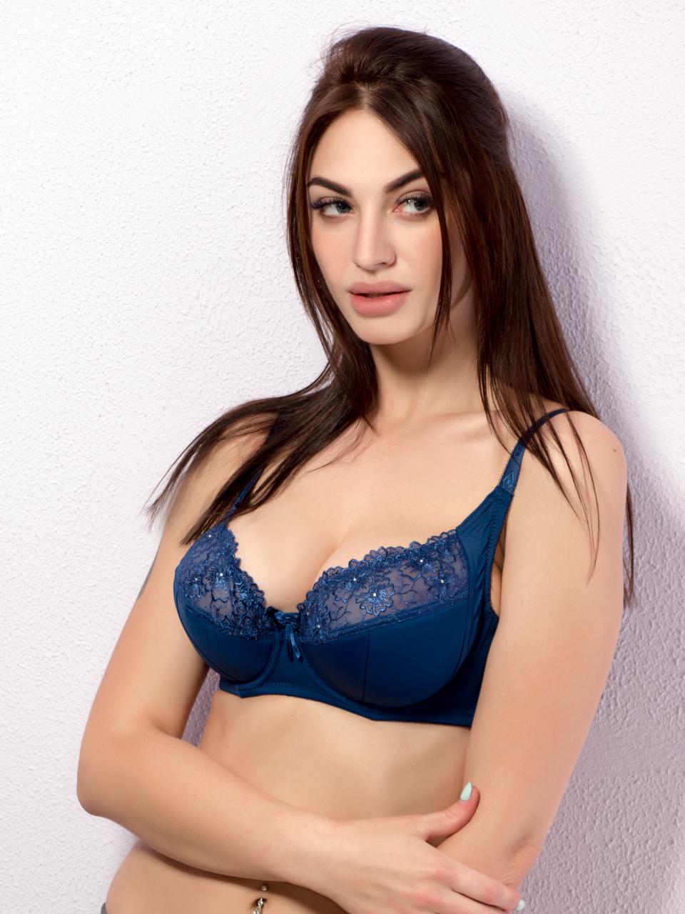 Бюстгальтер Diorella 65051D, цвет Синий, размер 75D