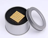 Неокуб Neocube в боксе квадрат головоломка золото (Тетракуб)