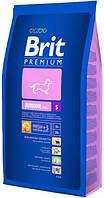 Корм для собак Brit Premium Junior S 8 кг, брит для щенков и юниоров мелких пород собак