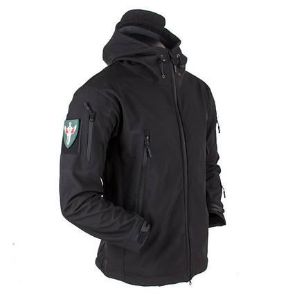 Тактическая куртка Soft Shell (Black) XXL