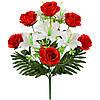 БУКЕТ ИСКУССТВЕННЫХ ЦВЕТОВ  искусственных лилий и роз, 57см