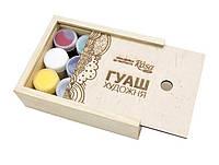 Набор гуашевых красок 12 цветов по 20 мл ROSA Studio в деревянном пенале 221545