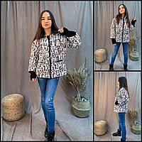 Модная куртка с трикотажными манжетами 40-52