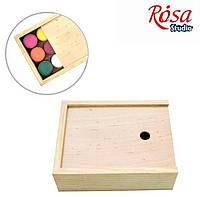 Пенал для гуаши деревянный, 17*13,3*5,3 см, ROSA Studio
