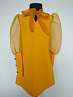 Детское платье для девочки на 12 и 14 лет горчица
