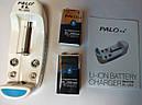 Зарядное устройство PL-L102 + аккумуляторы PALO крона 9V 300mАh NI-MH, фото 4