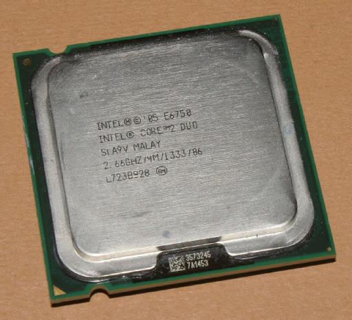 Процессор, Intel Core 2 Duo e6750, 2 ядра, 2.66 гГц