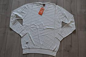 Мужской свитер VIP STONES Молочный (размеры L, XL, 2XL)