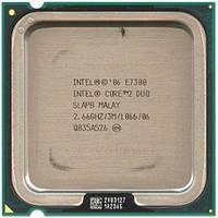 Процессор, Intel Core 2 Duo e7300, 2 ядра, 2.66 гГц