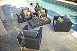Комплект садовой мебели Allibert Salta 3 Seater Sofa Lounge Set, фото 4