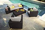 Комплект садовой мебели Allibert Salta 3 Seater Sofa Lounge Set, фото 3
