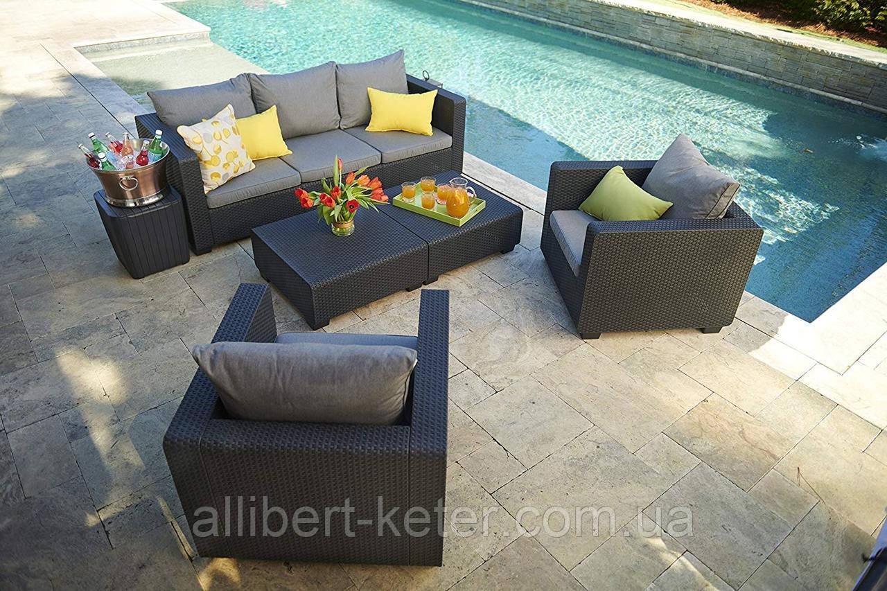 Комплект садовой мебели Allibert Salta 3 Seater Sofa Lounge Set