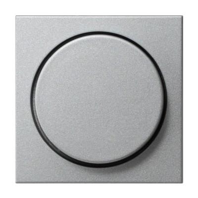 Накладка поворотного светорегулятора Gira System 55 алюминий