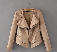 Фантастически красивая женская весенняя куртка со вставками из эко кожи