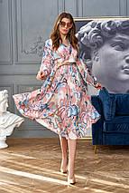 Женское расклешенное платье с имитацией запаха (Агата jd), фото 3