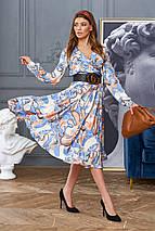 Женское расклешенное платье с имитацией запаха (Агата jd), фото 2