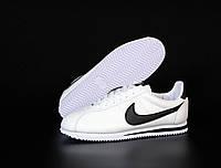 """Кроссовки кожаные мужские Nike Cortez """"Белые"""" р. 42-44"""