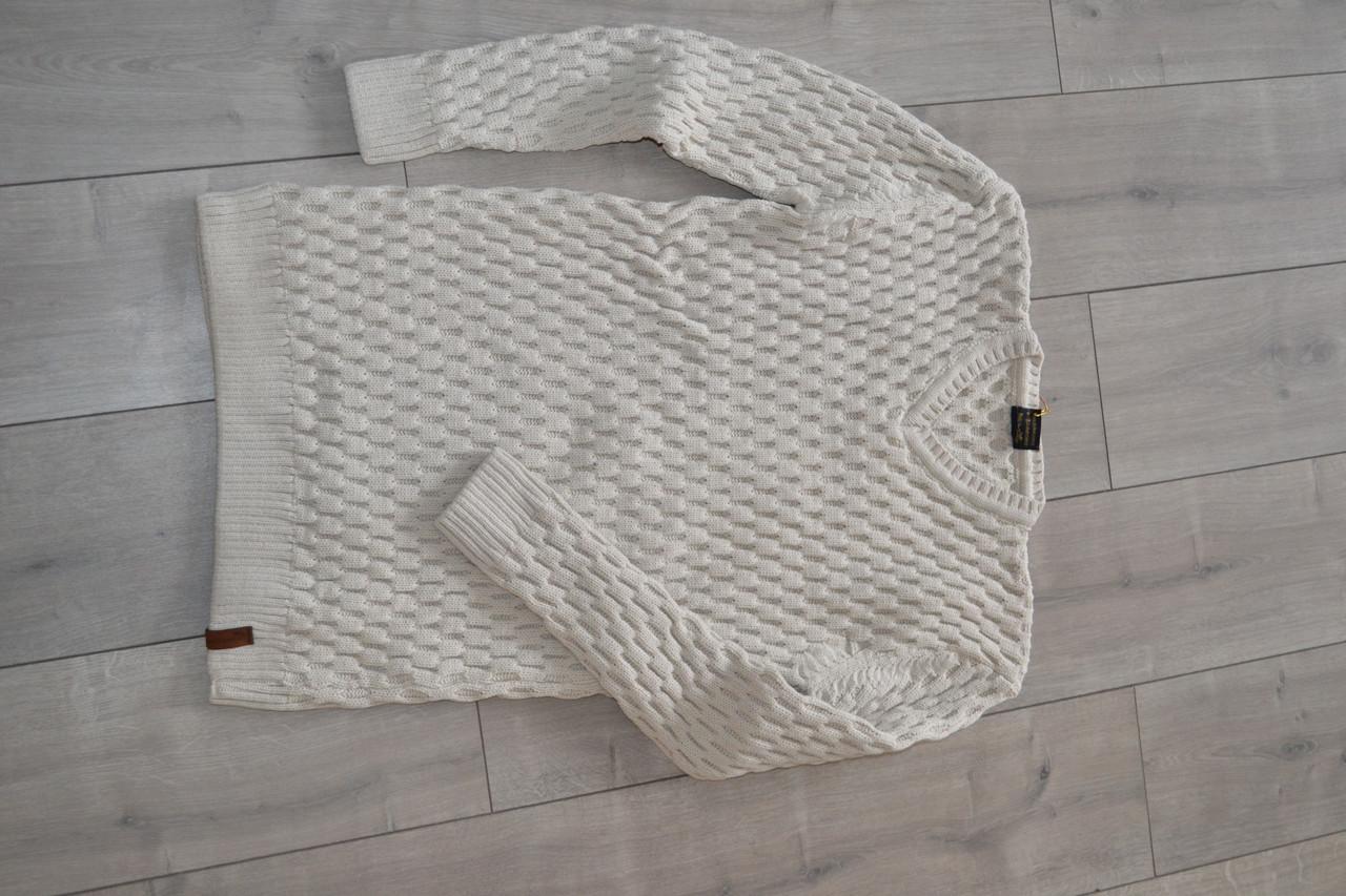 Мужской свитер FODIL S цвет Кофе с молоком Турция (размеры 2XL, 3XL)