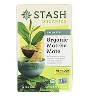 Зелёный чай с матча Stach organics , 18 пакетов