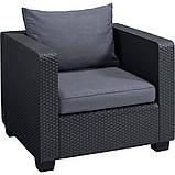 Комплект садовой мебели Allibert Salta 3 Seater Sofa Lounge Set, фото 6