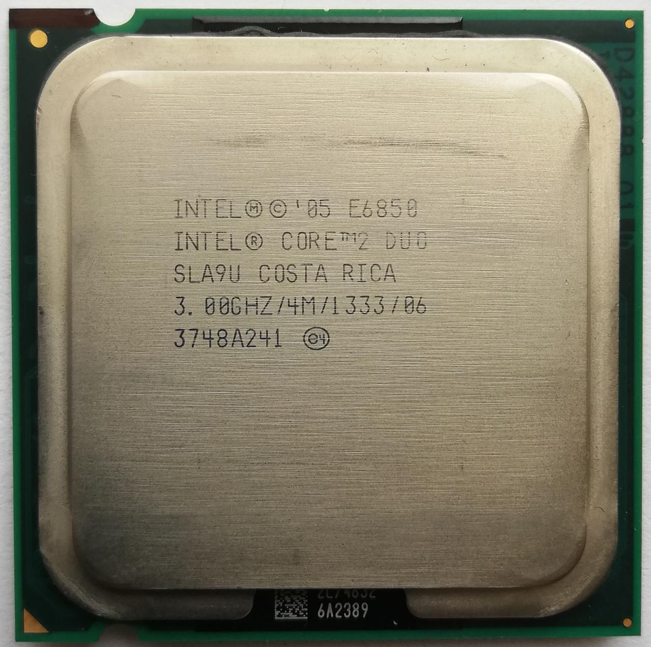Процессор, Intel Core 2 Duo e6850, 2 ядра, 3.0 гГц