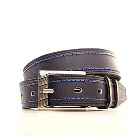 Ремень Lazar кожаный синий L30S3W10 60-70 см