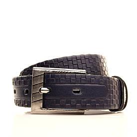 Ремень Lazar кожаный синий L30S3W11 60-70 см