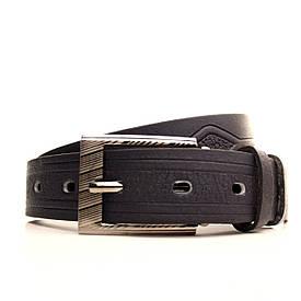 Ремень Lazar кожаный синий L30S3W12 60-70 см