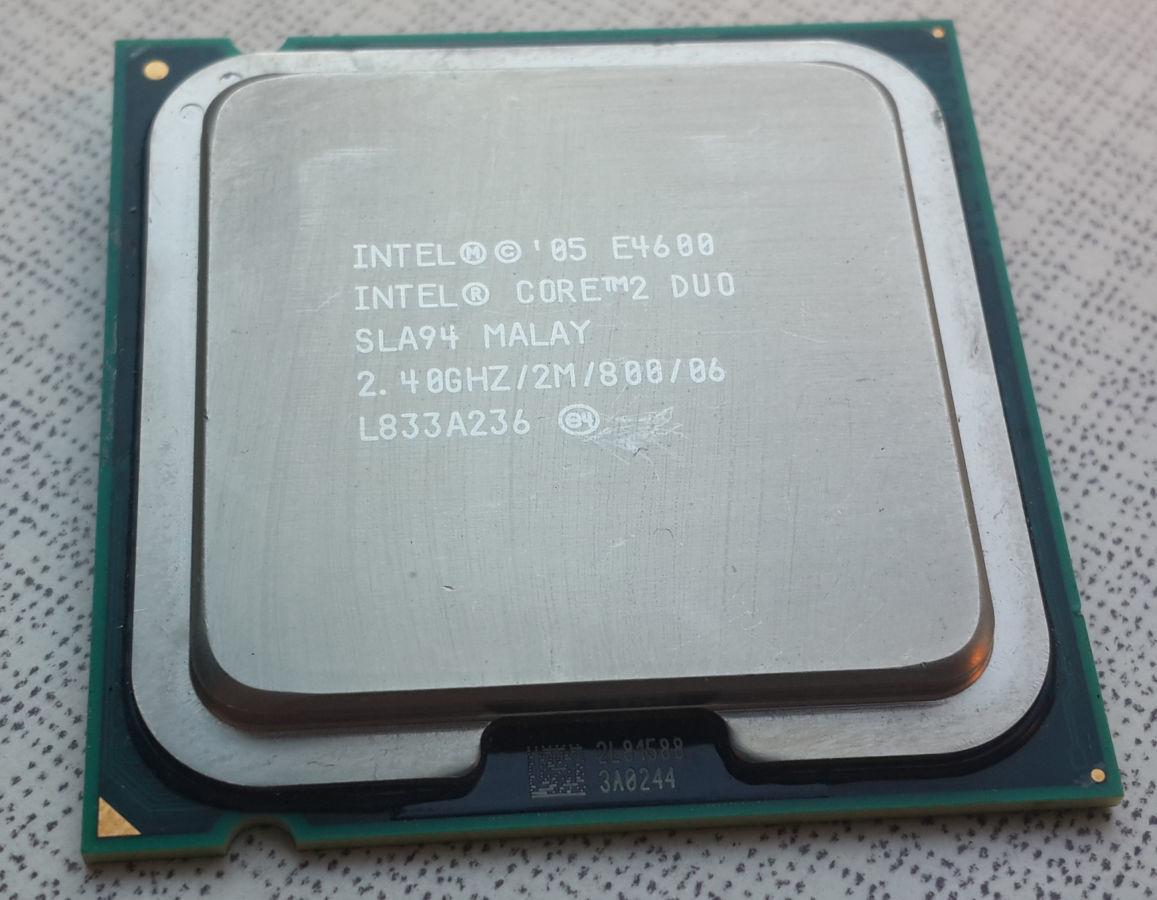 Процессор, Intel Core 2 Duo e4600, 2 ядра, 2.4 гГц
