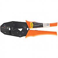 Клещи для обжима контактов электрокабеля с храповым механизмом, кримпер Sparta 0.5-6 мм 177065