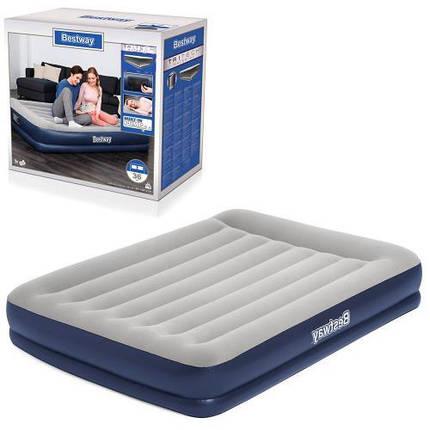 Матрас надувной для сна Bestway 67725 BW с насосом 203-152-36 см, фото 2